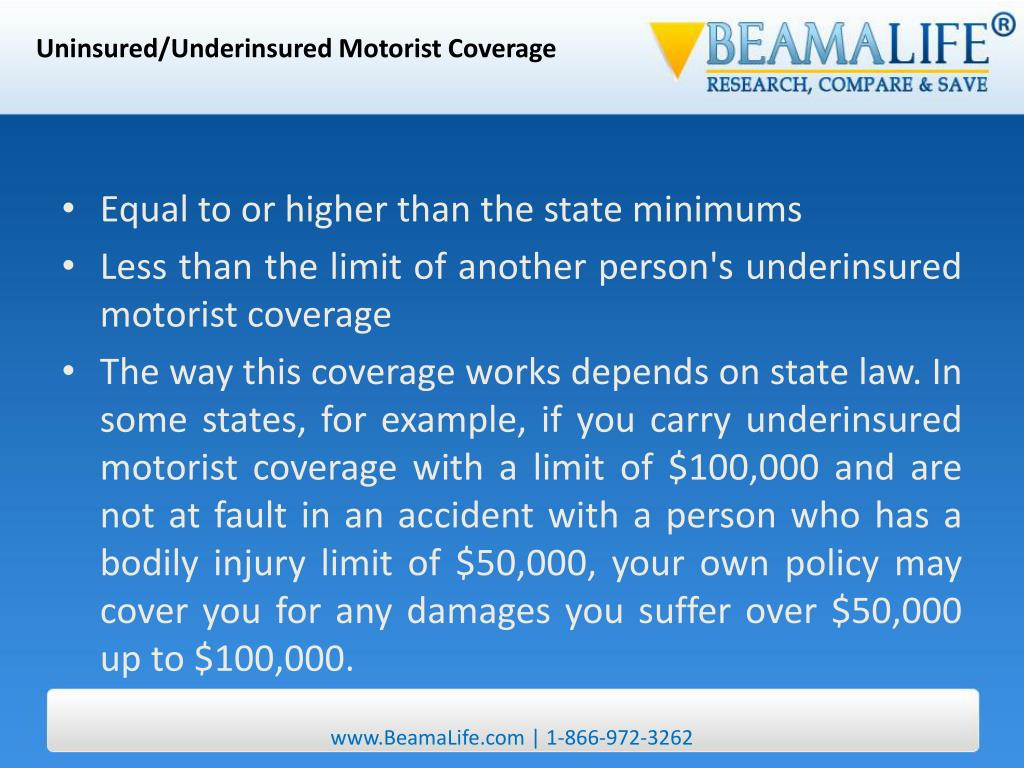 Uninsured/Underinsured Motorist Coverage