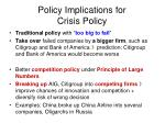 policy implications for crisis policy