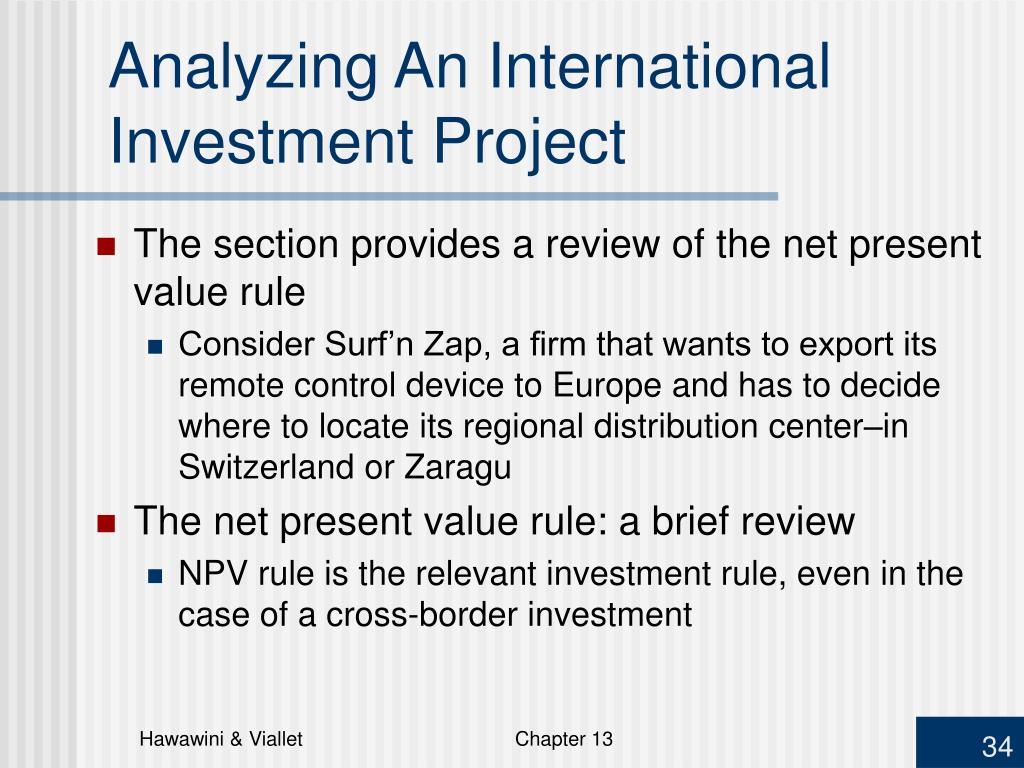 Analyzing An International Investment Project