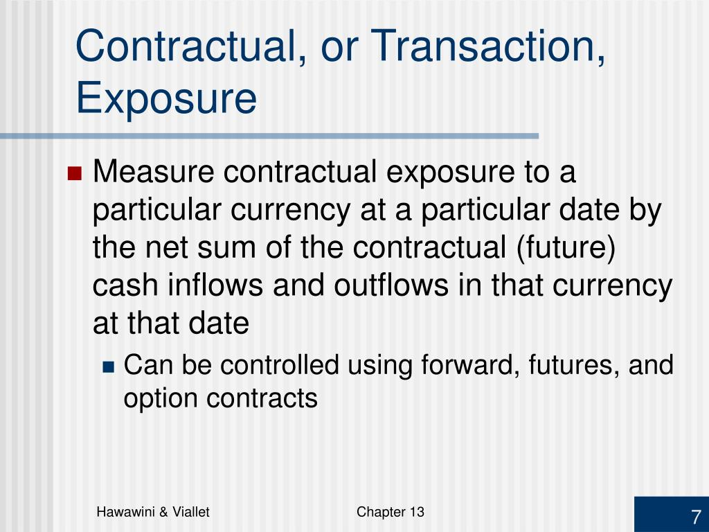 Contractual, or Transaction, Exposure