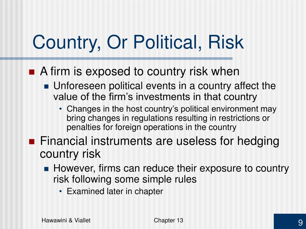 Country, Or Political, Risk
