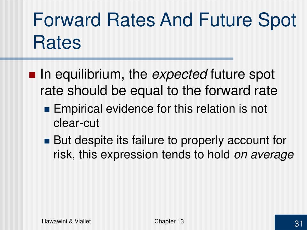 Forward Rates And Future Spot Rates