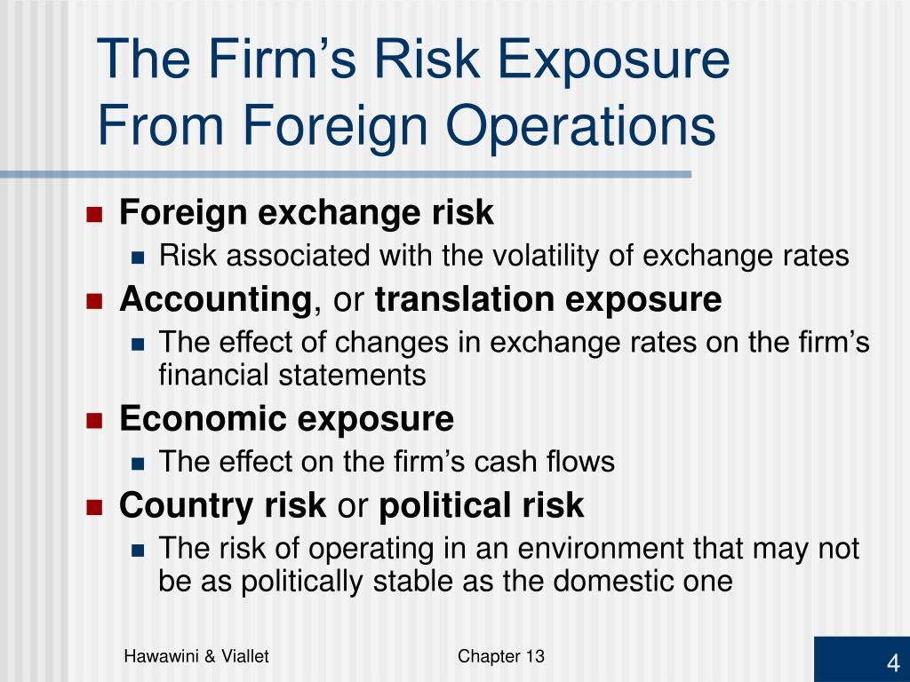 The Firm's Risk Exposure