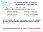 financial impact in today s environment health care