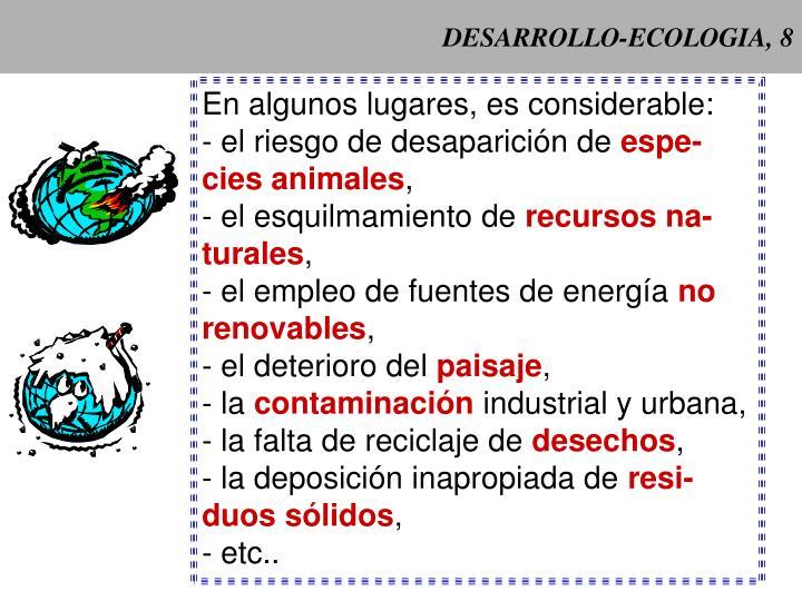Desarrollo ecologia 8