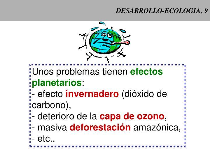 Desarrollo ecologia 9