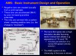 ams basic instrument design and operation