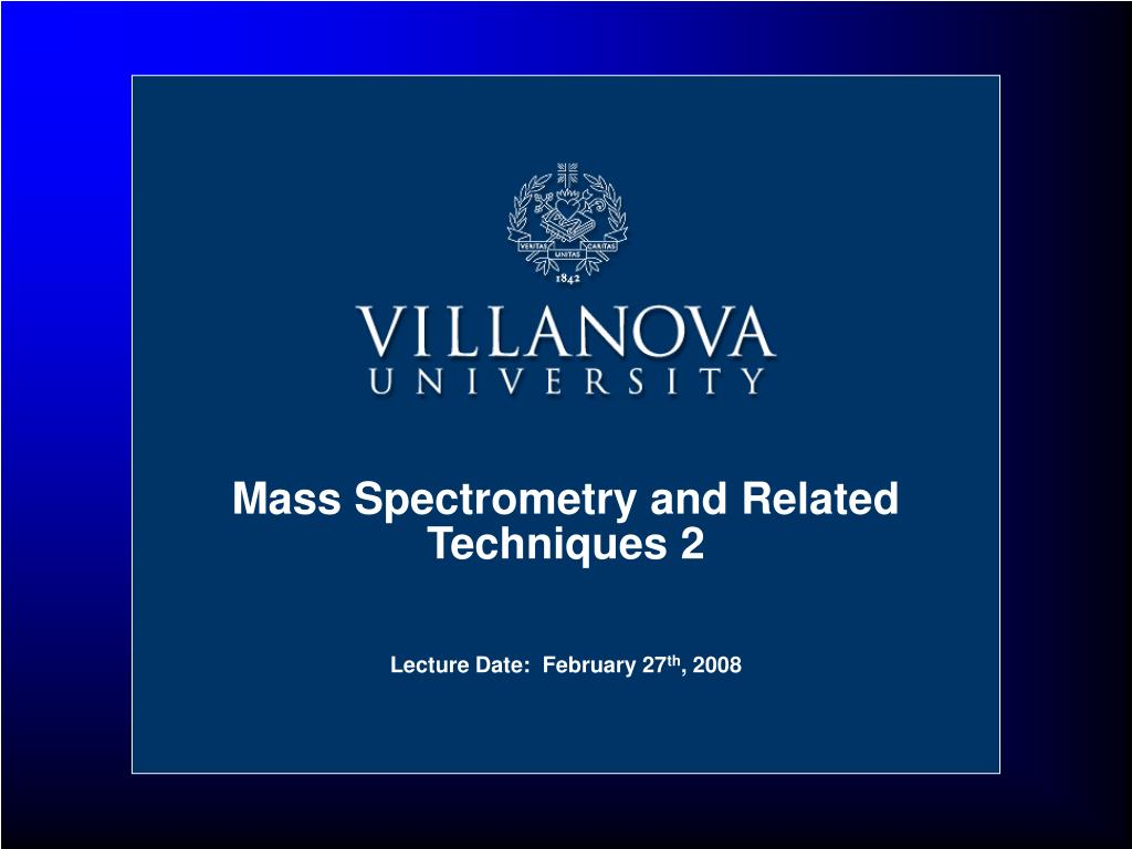 mass spectrometry and related techniques 2