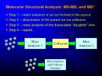 molecular structural analysis ms ms and ms n