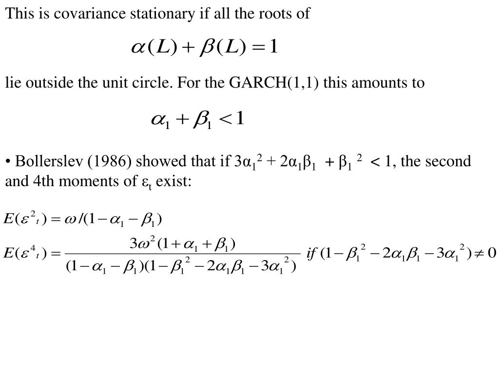 This is covariance stationary if all the roots of