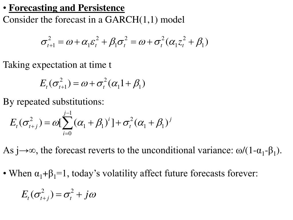 Forecasting and Persistence
