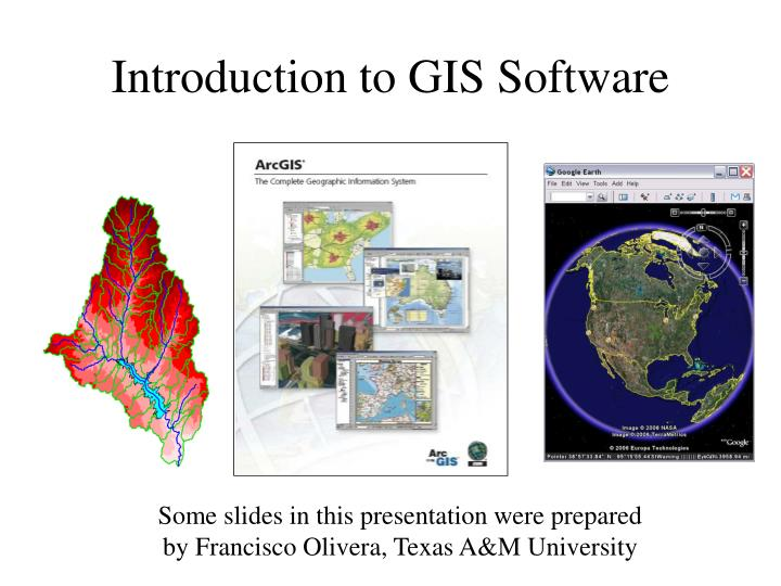 introduction to gis software n.