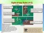 right of way rules 4 5