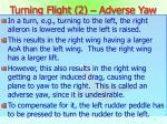 turning flight 2 adverse yaw