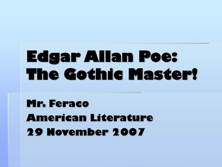 edgar allan poe the gothic master n.