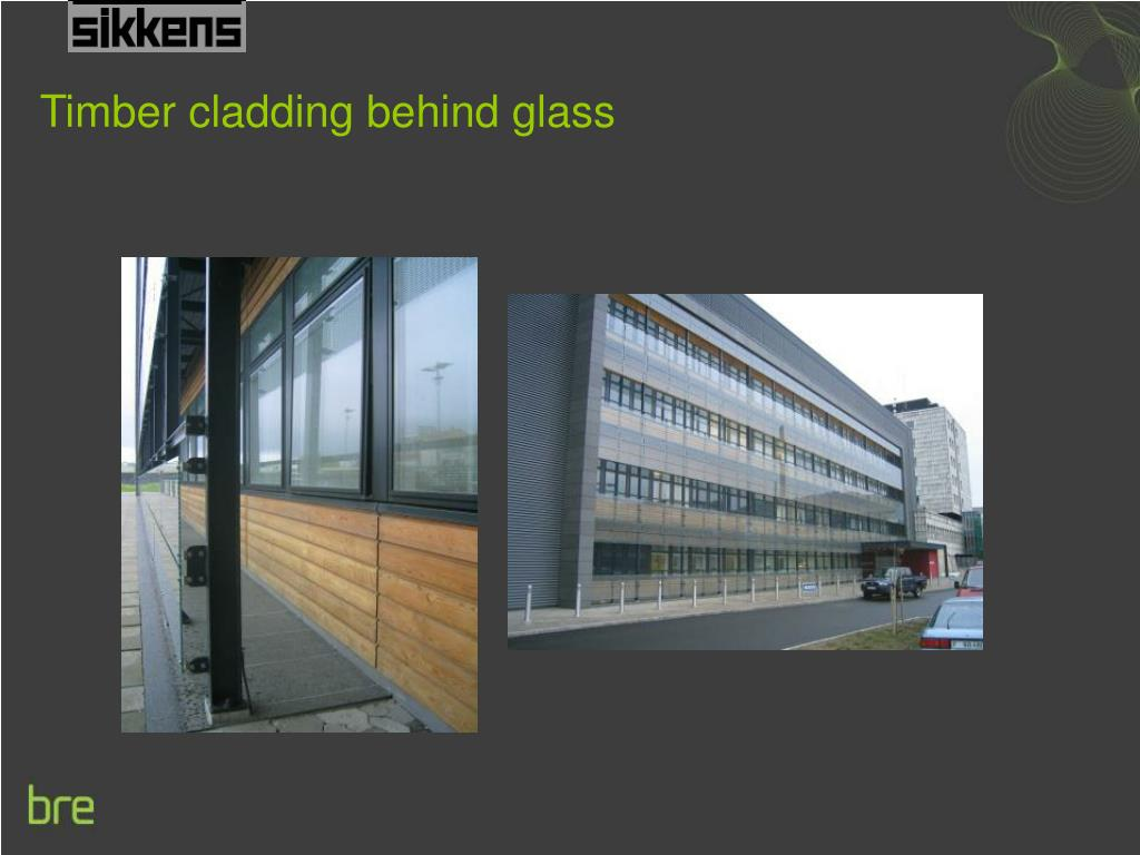 Timber cladding behind glass
