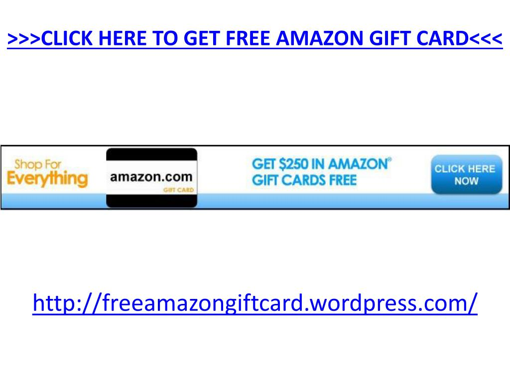 click here to get free amazon gift card l.