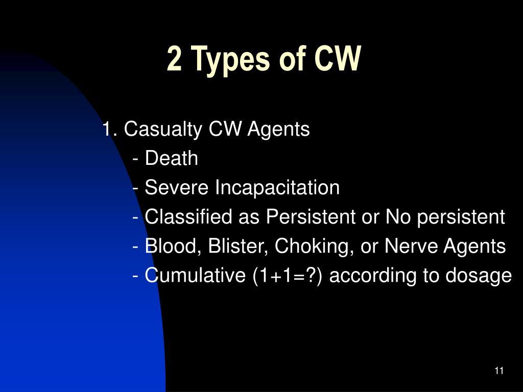 2 Types of CW