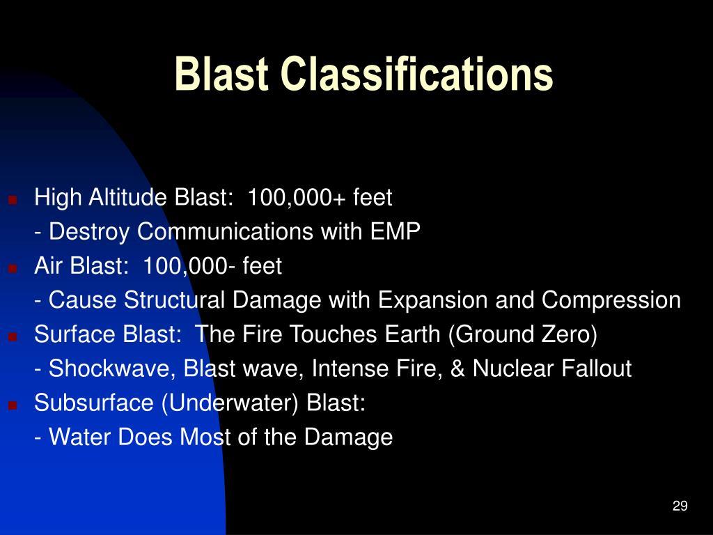 Blast Classifications