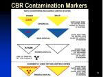 cbr contamination markers