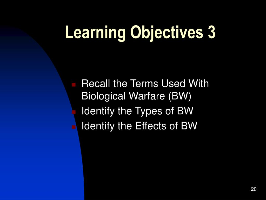 Learning Objectives 3