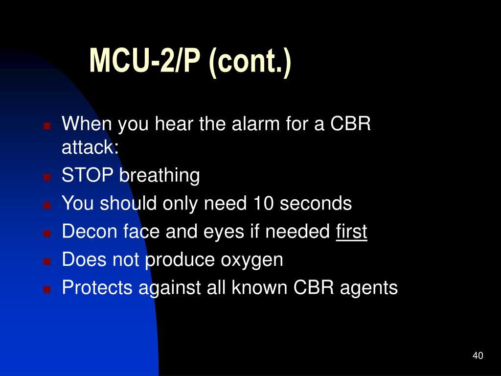 MCU-2/P (cont.)
