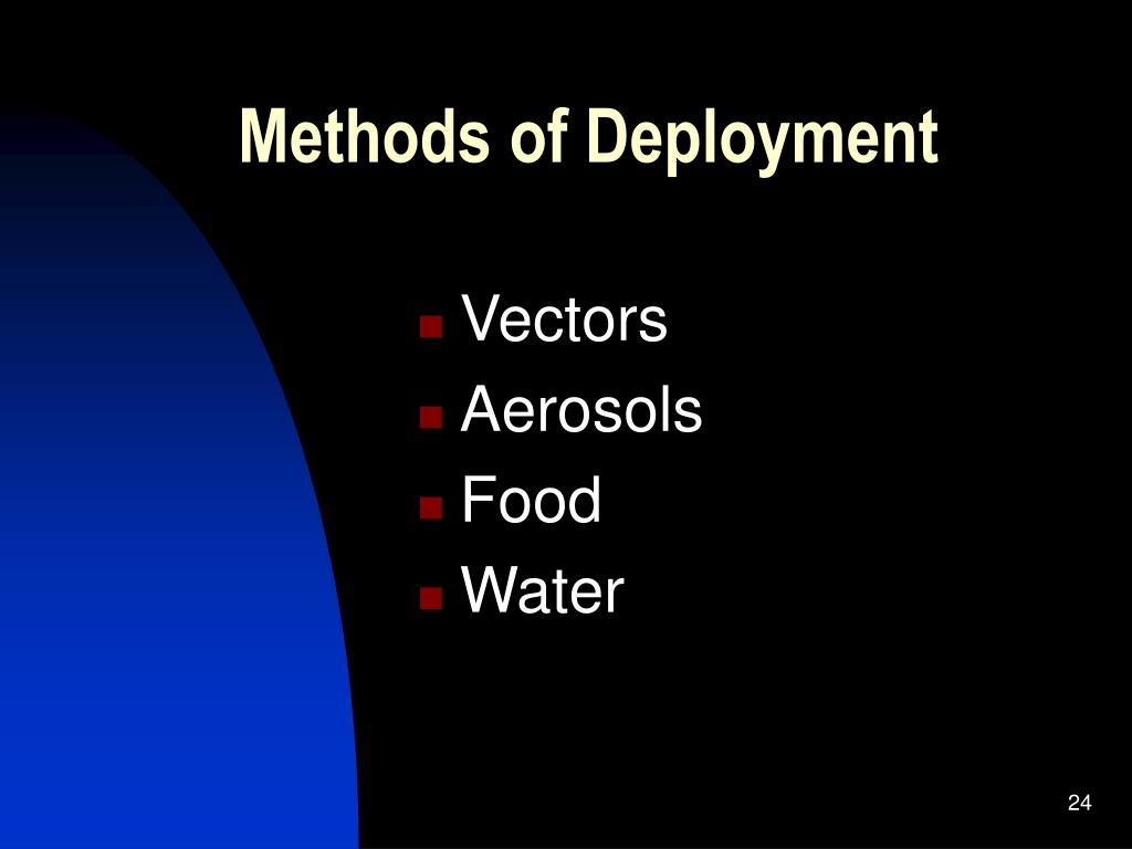 Methods of Deployment