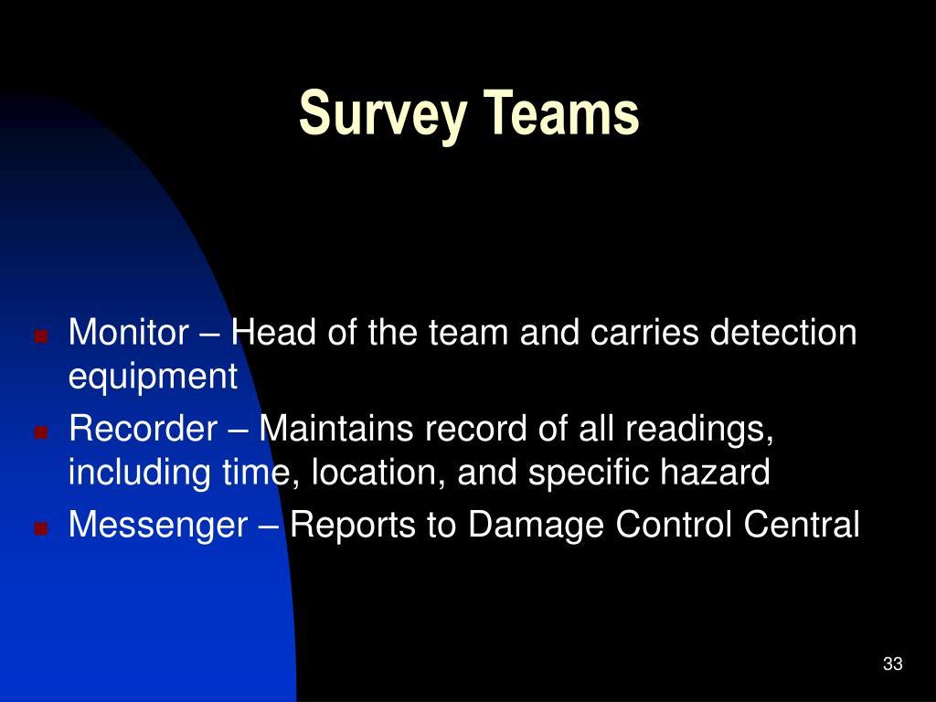 Survey Teams