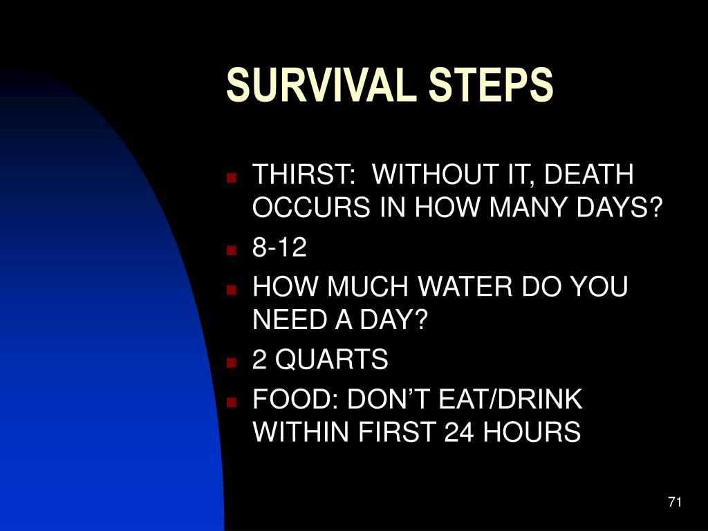 SURVIVAL STEPS