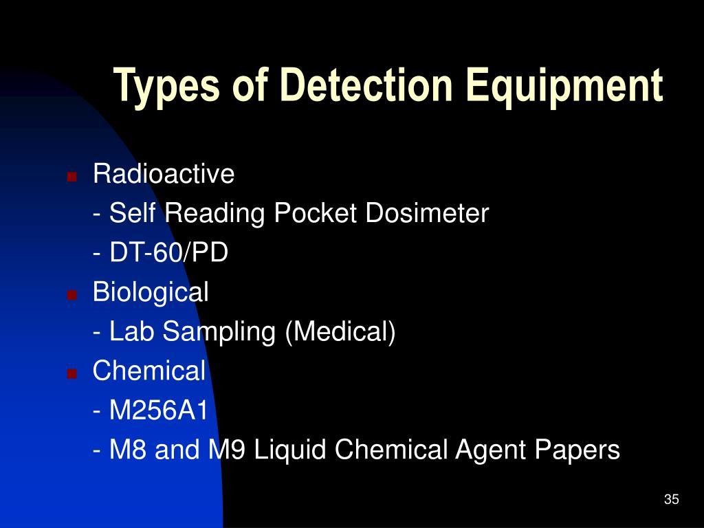 Types of Detection Equipment