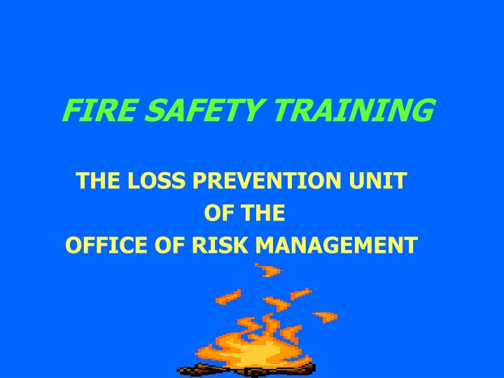 fire safety training n.