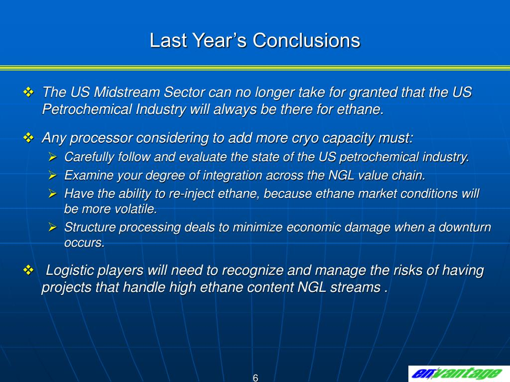 Last Year's Conclusions