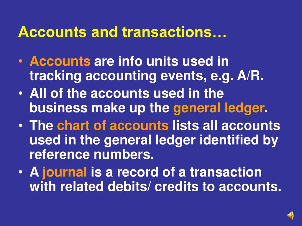 Accounts and transactions…