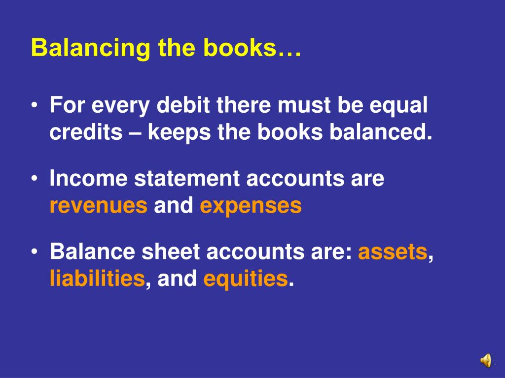 Balancing the books…