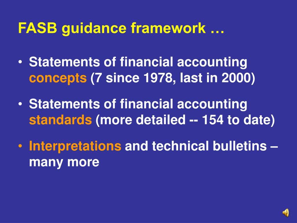 FASB guidance framework …