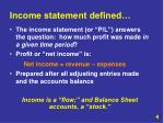 income statement defined