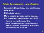 public accountancy a profession