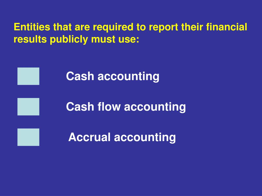 Entities that are required to report their financial results publicly must use: