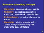 some key accounting concepts