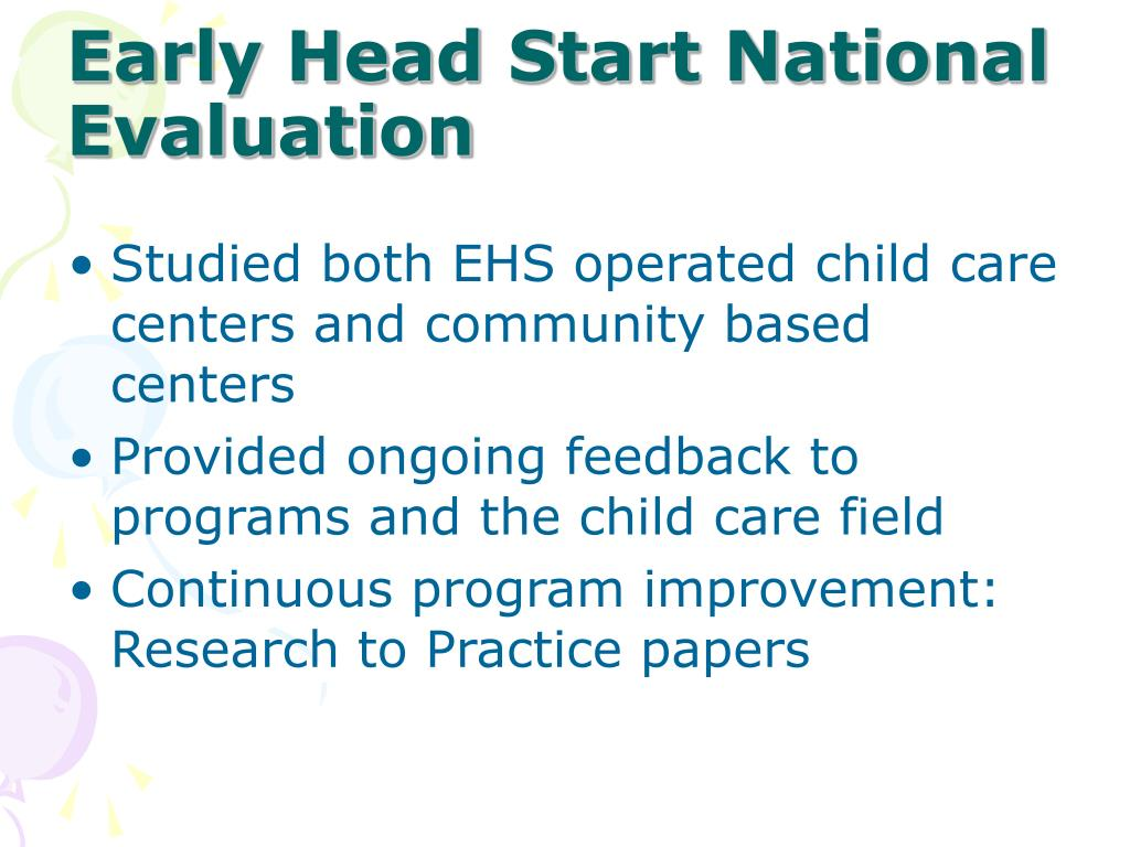 Early Head Start National Evaluation