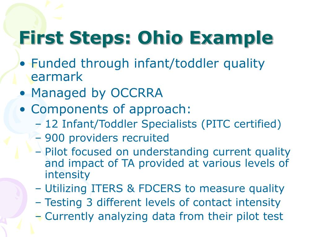 First Steps: Ohio Example