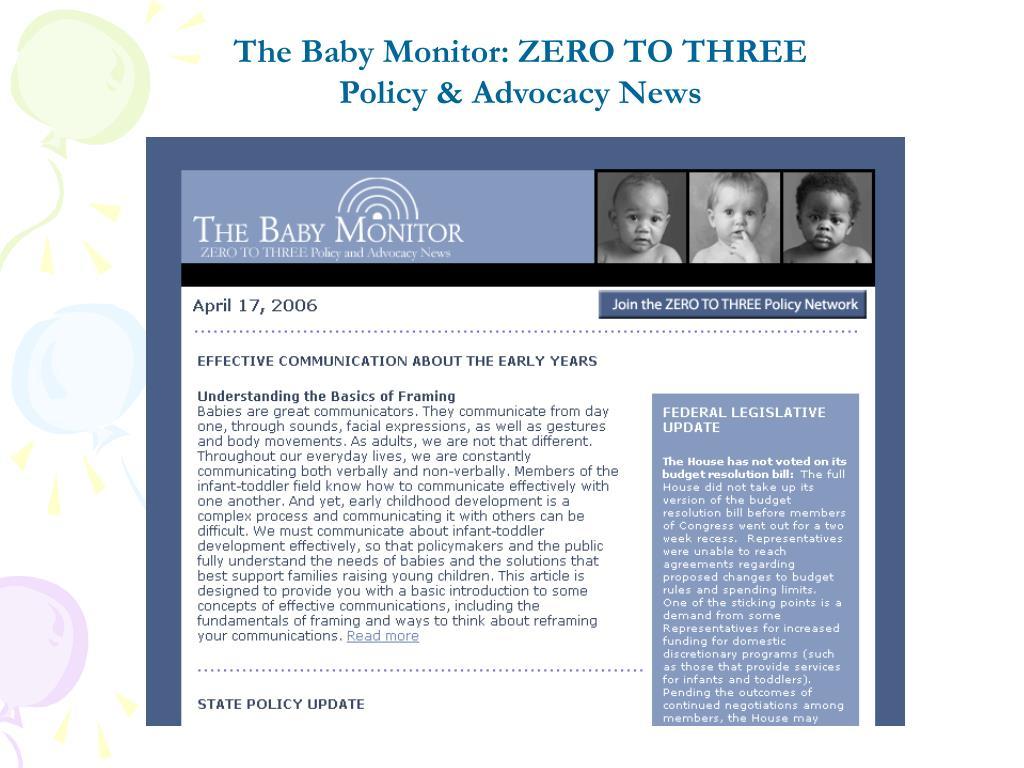 The Baby Monitor: ZERO TO THREE