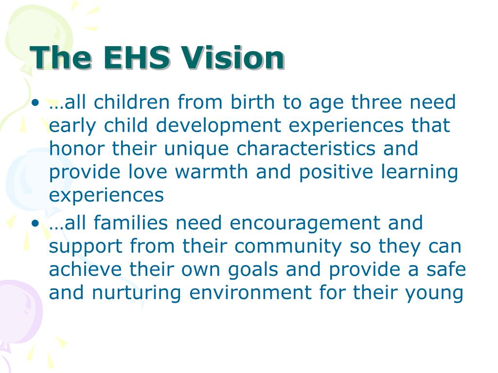 The EHS Vision
