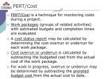 pert cost