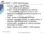 pert cpm definitions