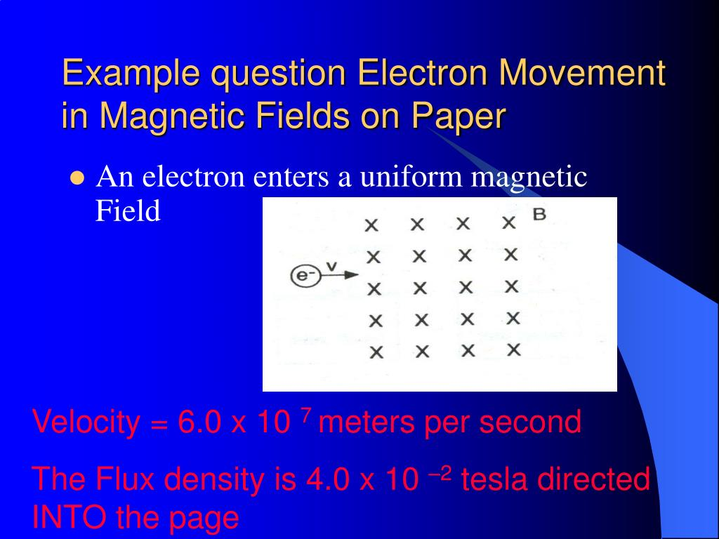 Example question Electron Movement in Magnetic Fields on Paper