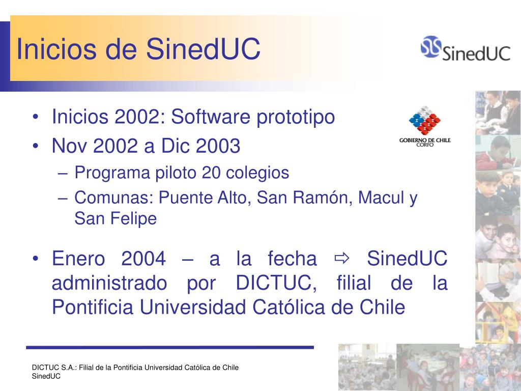 Inicios de SinedUC