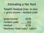 estimating a fair rent