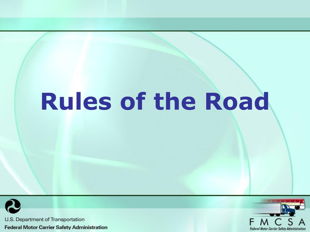 rules of the road l.