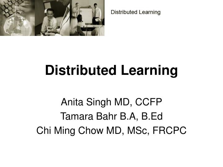 distributed learning n.